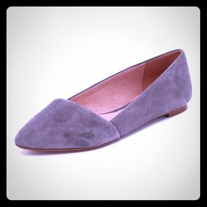 Madewell Mira D'Orsay Flats: Grey Suede